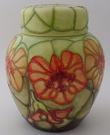Moorcroft Pottery Nasturtium Ginger Jar And Cover